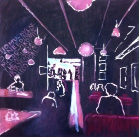Friska Cafe, Clifton, Bristol. Oil on canvas. 20in x20in (approx). Temporarily unavailable