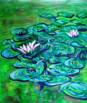 Lillies. Oil on board. 20in x 24in.