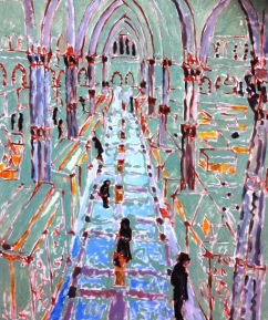 Oxford University Museum of Natural History. Oil on canvas, 20in x 24in,