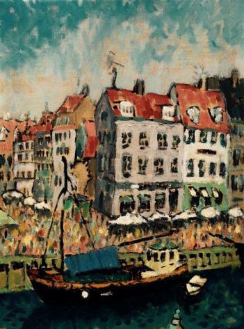 Nyhavn Copenhaagen. Oil on Linen. 12in x 16in. Available