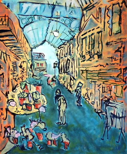 St Nicholas Markets, Bristol. 20in x 24in. Unavailable