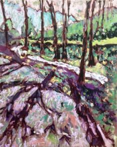 Cardinham Woods, Cornwall. Oil on canvas. 16in x 20in.