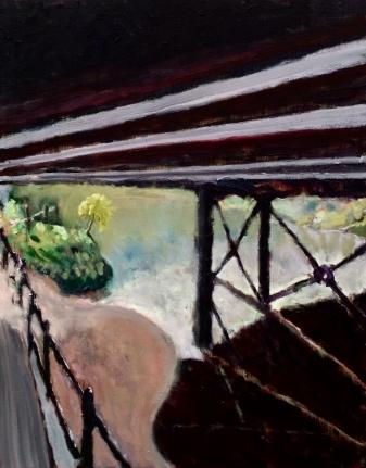 Bradford on Avon Railway bridge. Oil on canvas. 16in x 20in.