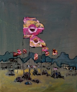 WOMAD at dusk. 20in x 24in. Oil on canvas. Available